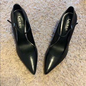 """Pointed black 3"""" heels"""